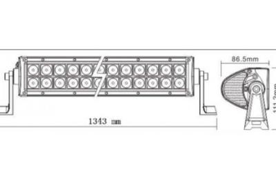 """BARRA LED 54""""   2x50 LED -  300W COMBO  22800LM"""