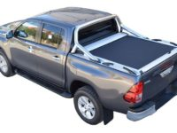 CUBIERTA ENROLLABLE HILUX REVO (2016-...) COMPATIBLE CON ROLLBAR - DOBLE CABINA
