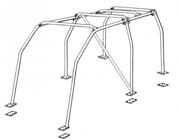 BARRAS ANTIVUELCO INTERIORES MITSUBISHI MONTERO DID V60 Y V80 5P. 4 arcos, 3 diagonales. Con techo electrico