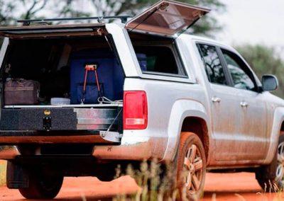 HARD TOP TRABAJO RSI EN ACERO INOX CON PORTONES LATERALES VW AMAROK (2010-...) DOBLE CABINA