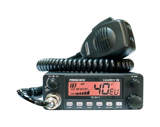 EMISORA PRESIDENT HARRY III 12/24V ASC 40 CX AM/FM