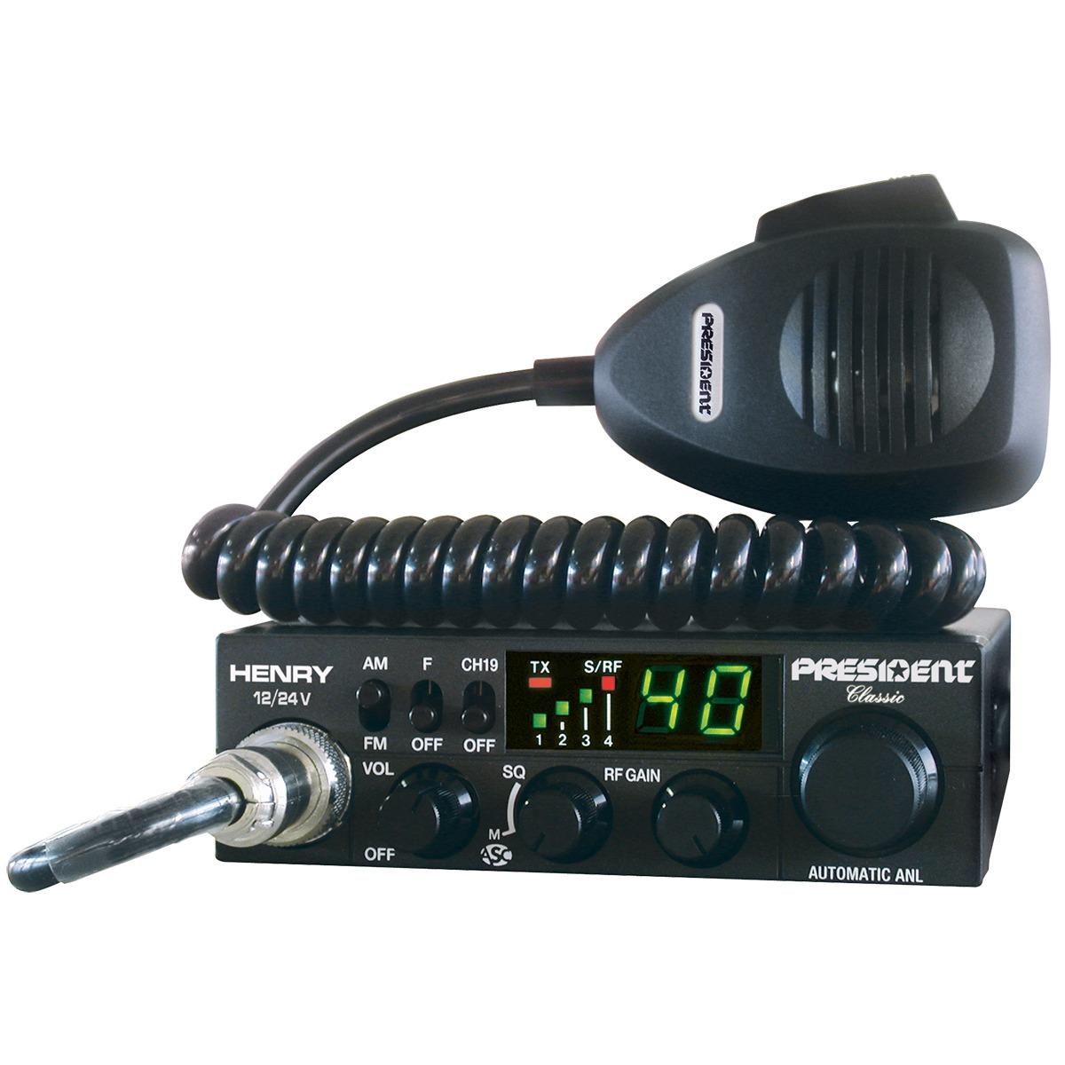 EMISORA PRESIDENT HENRY 12/24V ASC CLASSIC 40 CX AM/FM